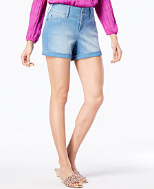 Thalia Sodi Cuffed Denim Shorts, Created for Macy's