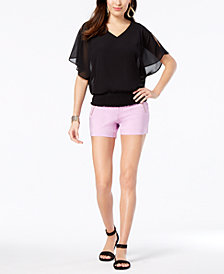 Thalia Sodi Smocked Top & Shorts, Created for Macy's