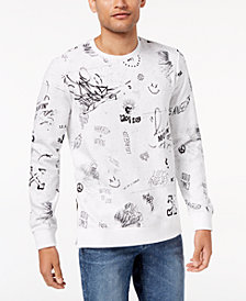 GUESS Men's Graffiti-Print Sweatshirt