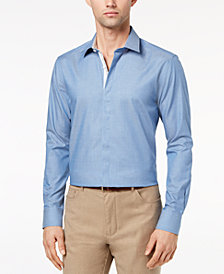 Ryan Seacrest Distinction™ Men's Slim-Fit Chambray Shirt, Created for Macy's