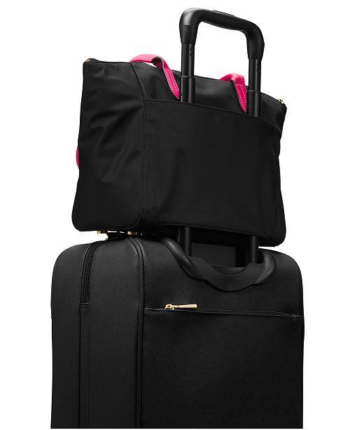 841f3f43f377 Michael Kors Kelsey Medium Top-Zip Nylon Tote   Reviews - Handbags ...