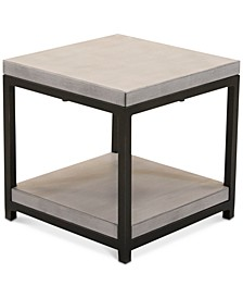 LIMITED AVAILABILITY Fiji Aluminum Double Shelf End Table,  Created for Macy's