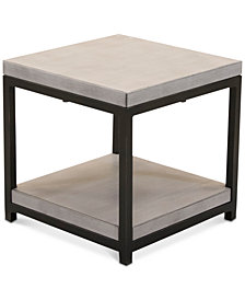 CLOSEOUT! Fiji Aluminum Double Shelf End Table,  Created for Macy's
