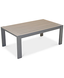 Aruba Gunmetal Aluminum Coffee Table, Created for Macy's