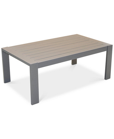 Aruba Gunmetal Aluminum Coffee Table, Created for Macy's
