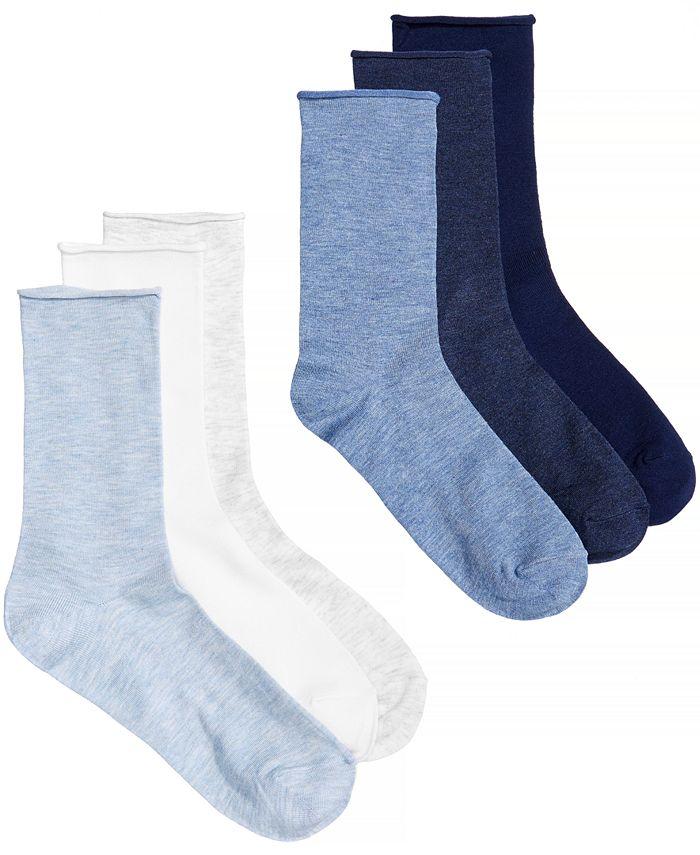 Lauren Ralph Lauren - Women's 6-Pk. Roll Top Trouser Socks