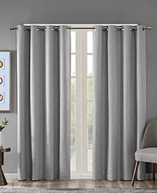 "SunSmart Maya 50"" x 95"" Printed Heathered Blackout Window Panel"