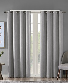 "SunSmart Maya 50"" x 63"" Printed Heathered Blackout Window Panel"