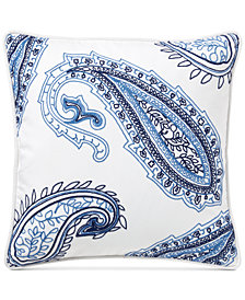 "Lauren Ralph Lauren Nora Embroidered-Paisley 18"" Square Decorative Pillow"