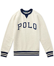Ralph Lauren Cotton French Terry Sweatshirt, Big Boys