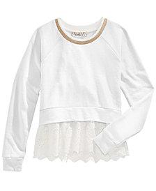 Pink Republic Layered-Look Sweatshirt, Big Girls