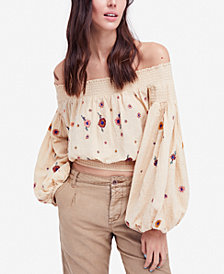 Free People Saachi Cotton Off-The-Shoulder Top