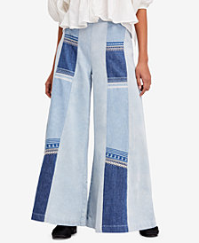 Free People Willa Cotton Pieced Wide-Leg Jeans