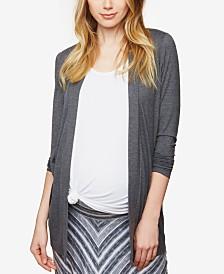 BumpStart Maternity Open-Front Draped Cardigan