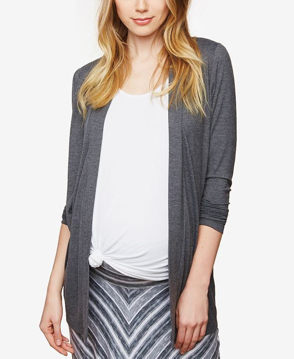 Motherhood Maternity BumpStart Maternity Open-Front Draped Cardigan
