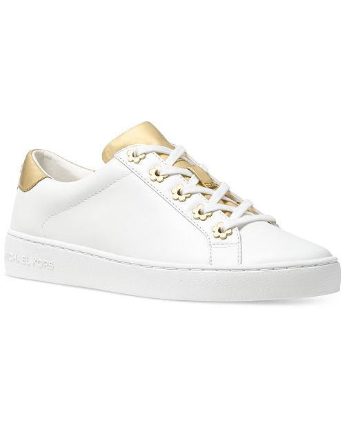 37a3056fb03 Michael Kors Irving Lace-Up Sneakers   Reviews - Athletic Shoes ...