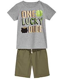 Epic Threads Graphic-Print T-Shirt & Shorts Separates, Toddler & Little Boys, Created for Macy's