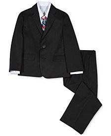 Nautica 4-Pc. Herringbone Suit Set, Little Boys