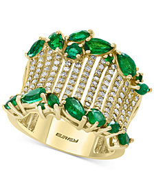 EFFY® Emerald (2-1/10 ct. t.w.) & Diamond (1/2 ct. t.w.) in 14k Gold