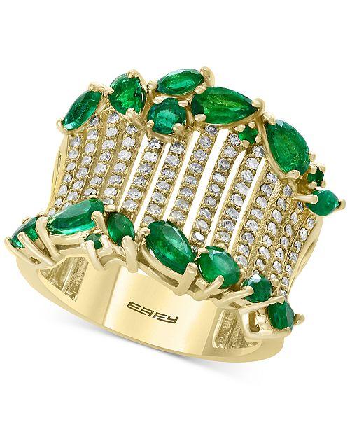 EFFY Collection EFFY® Emerald (2-1/10 ct. t.w.) & Diamond (1/2 ct. t.w.) in 14k Gold