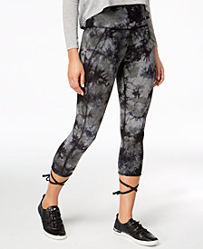 Calvin Klein Performance Tie-Dyed Ballet Cropped Leggings