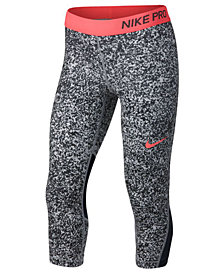 Nike Dri-FIT Pro Printed Capri Leggings, Big Girls
