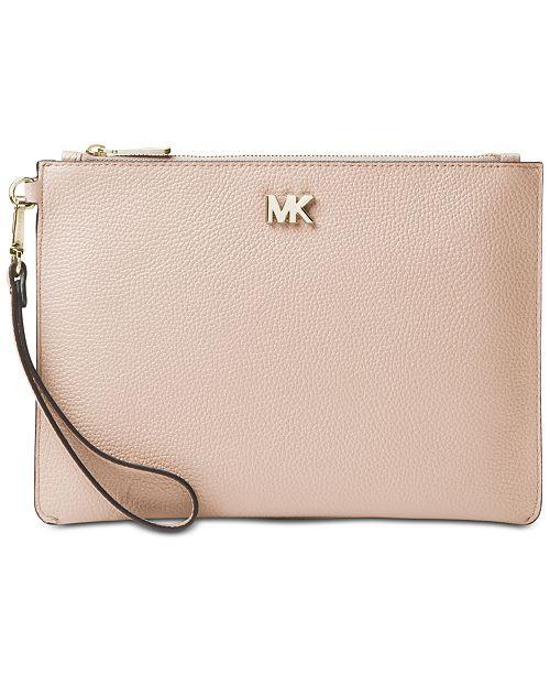 bbe930eead0c Michael Kors Pebble Leather Zip Pouch Wristlet & Reviews - Handbags ...