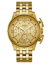 GUESS Men's Gold-Tone Stainless Steel Bracelet Watch 46mm