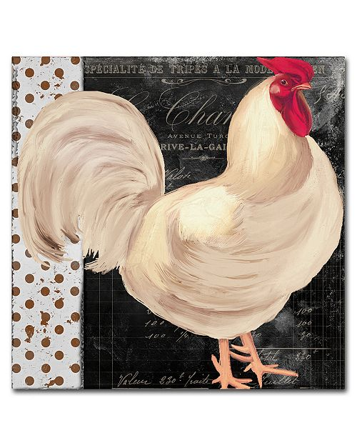 """Trademark Global Color Bakery 'White Rooster Cafe I' Canvas Art - 24"""" x 2"""" x 24"""""""