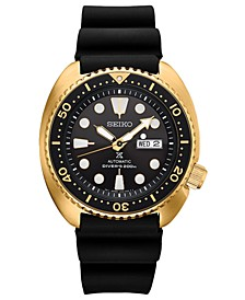 Men's Automatic Prospex Diver Black Silicone Strap Watch 45mm