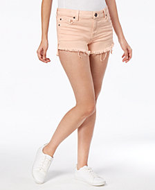 STS Blue Boyfriend Frayed Step Hem Denim Shorts