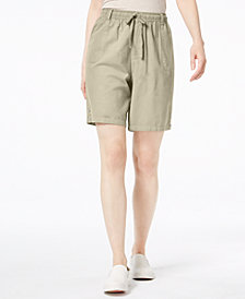 Karen Scott Petite Cotton Shorts, Created for Macy's