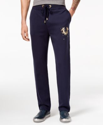 Men's Shatter Metallic Logo-Print Sweatpants