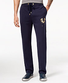 True Religion Men's Shatter Metallic Logo-Print Sweatpants