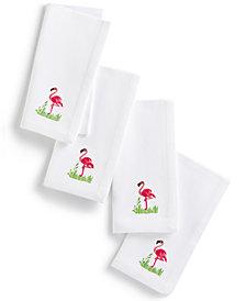 Leila's Linens Flamingo Set of 4 Napkins