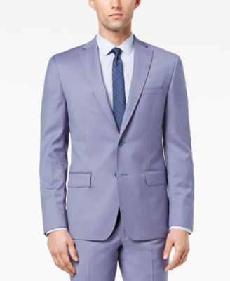 Men's Modern-Fit Stretch Blue Suit Jacket
