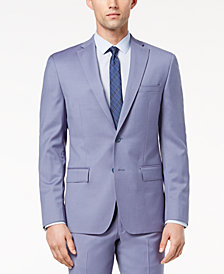 CLOSEOUT! DKNY Men's Modern-Fit Stretch Blue Suit Jacket
