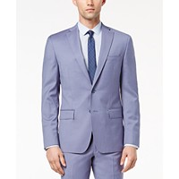 DKNY Mens Modern-Fit Stretch Blue Suit