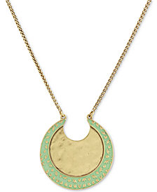 "Lucky Brand Two-Tone Moon 32"" Pendant Necklace"