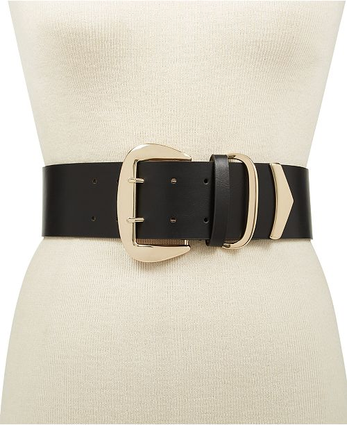 INC International Concepts I.N.C. Oversized-Buckle Stretch Belt, Created for Macy's