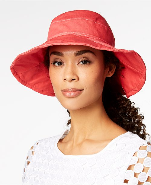 13bcf48e9 INC International Concepts I.N.C. Solid Floppy Packable Hat, Created ...