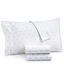 CLOSEOUT! Martha Stewart Collection Organic 4-Pc. Printed King Sheet Set, 300 Thread Count GOTS Certified, Created for Macy's