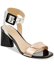 GUESS Women's Saloni Metallic City Dress Sandals
