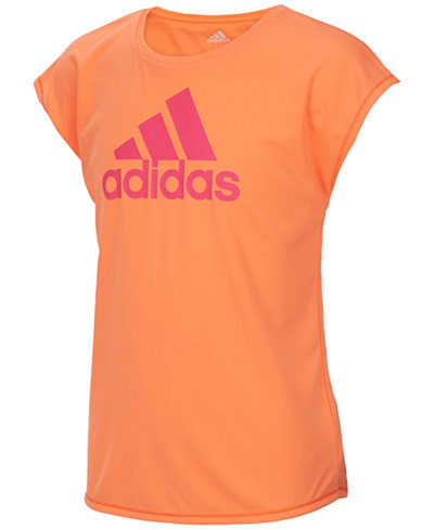 adidas Graphic-Print Climalite® T-Shirt, Big Girls