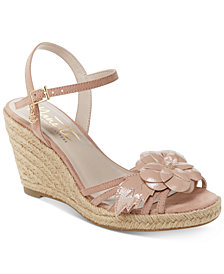 Nanette by Nanette Lepore Quince Floral Wedge Sandals, Created for Macy's