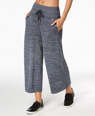 Calvin Klein Performance High-Rise Cropped Wide-Leg Pants