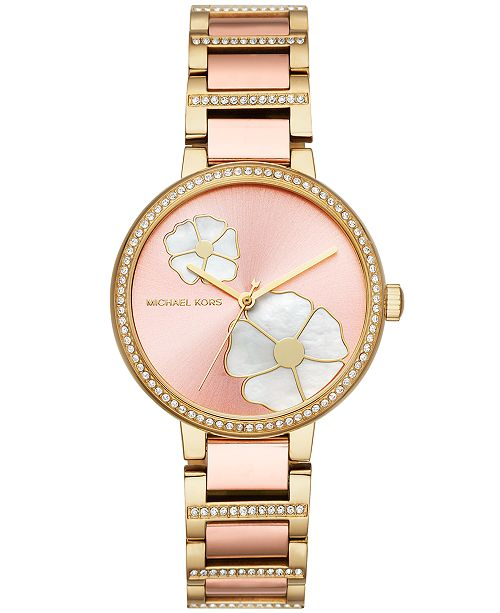 c66aa6f66516 ... Michael Kors Women s Courtney Two-Tone Stainless Steel Bracelet Watch  36mm