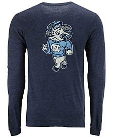 Retro Brand Men's North Carolina Tar Heels Tri-Blend Long Sleeve T-Shirt
