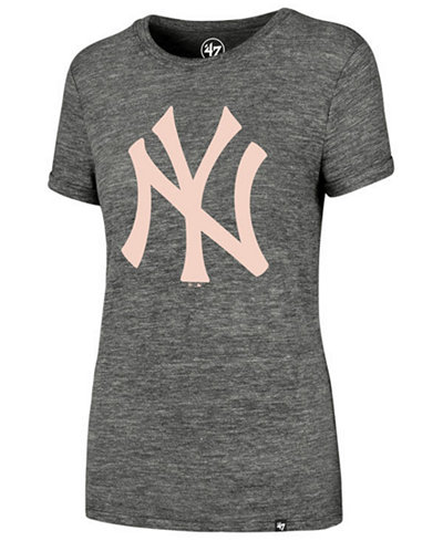 '47 Brand Women's New York Yankees Hero Pink Logo T-Shirt