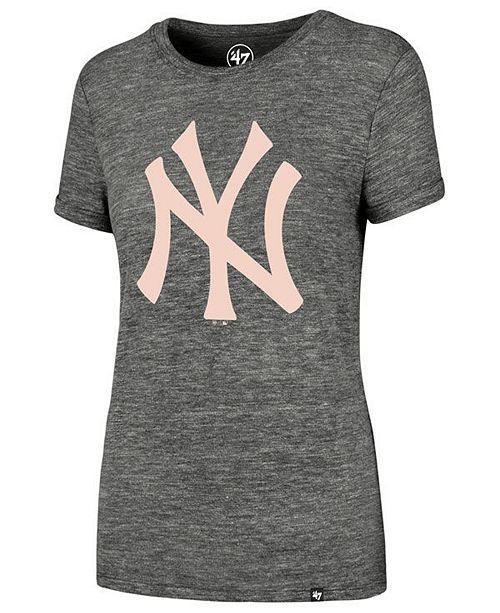 9a3aee8de ... '47 Brand Women's New York Yankees Hero Pink Logo T-Shirt; ' ...